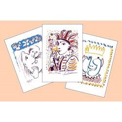 """Cartes """"Pablo Picasso"""" - Carnaval (lot de 3)"""