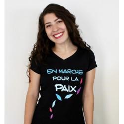 """Tee-shirt femme """"En marche pour la paix"""""""