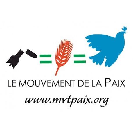 """Autocollant """"Mouvement de la Paix"""""""