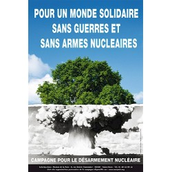 """Affiche """"Pour un monde solidaire"""""""