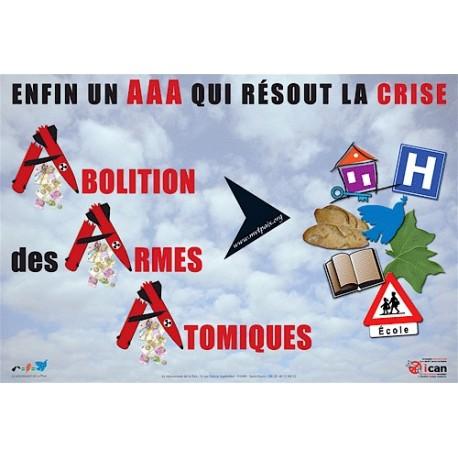 """Affiche """"Abolition des Armes Atomiques"""""""
