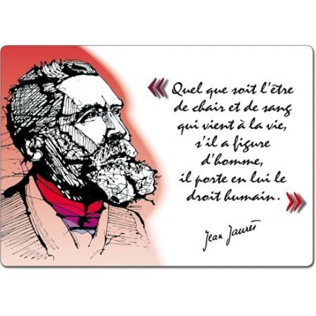 """Set de table """"Citation de Jean Jaurès"""" (modèle 3)"""