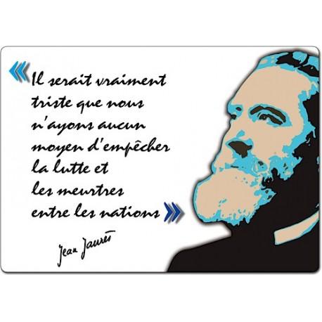 """Set de table """"Citation de Jean Jaurès"""" (modèle 4)"""