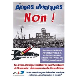 Lot de 100 cartes postales pétitions Armes atomiques Non !