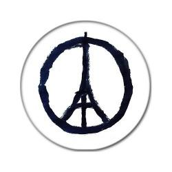 Badge Paix à Paris (noir basique)