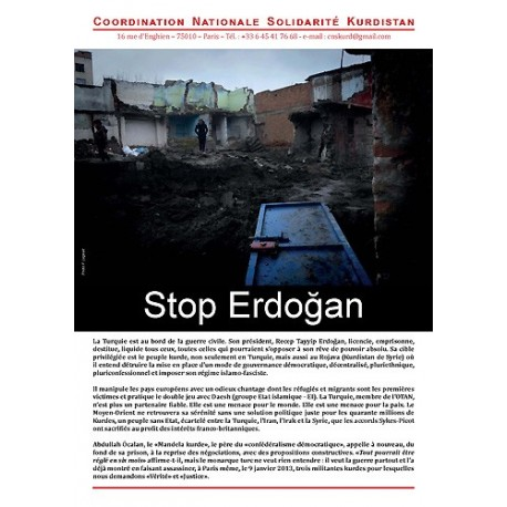 "Brochure ""4 pages"" Stop Erdogan (lot de 20)"