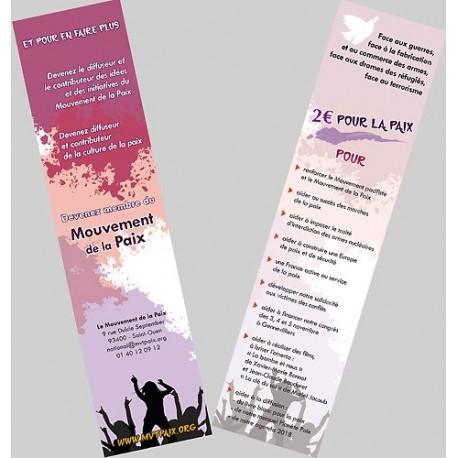 Marque-page du Mouvement de la Paix