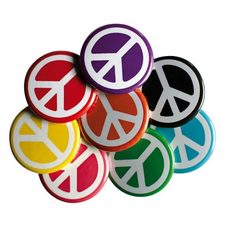 Lot de 8 badges Peace