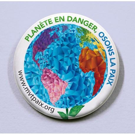 Badge Planète en danger, Osons la paix