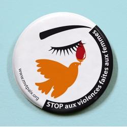 Badge STOP aux violences faites aux femmes