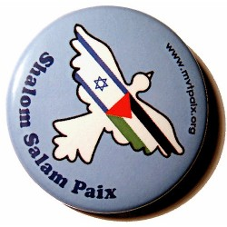 Badge Shalom Salam Paix