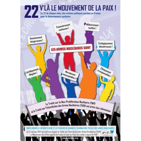 Affiche 22 V'là Le Mouvement de la Paix (40x60 cm)