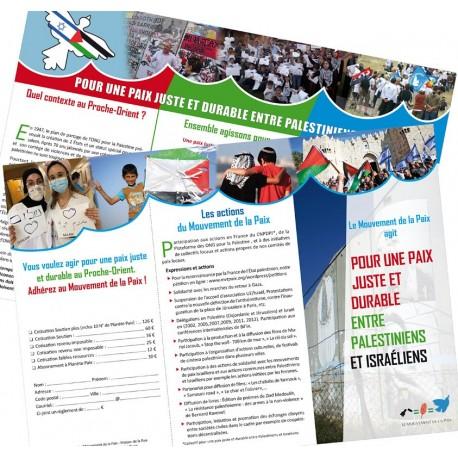 Lot de 50 dépliants Palestine